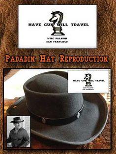 Have Gun Will Travel Paladin Hat Reproduction