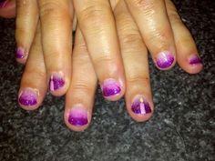 Advent ombre nail art