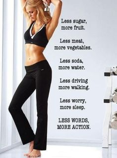 This is the goal, this is not a diet, it's a lifestyle. Do it now.