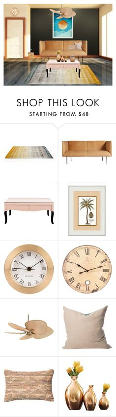 """""""Lounge area"""" by chicagofashionlove ❤ liked on Polyvore featuring interior, interiors, interior design, home, home decor, interior decorating, Linie Design, Blu Dot, Fanimation and Liberty"""