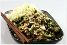 raw food recipe broccoli hoisini sauce