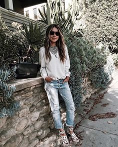 Our Jules in our Stella sweatshirt- bling, bling! ✨/ www.shopsincerelyjules.com