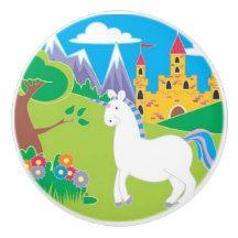 Unicorn Kids Ceramic Knob