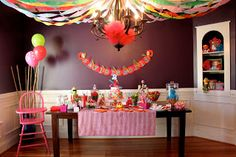 Elmo party - Sweets Table.