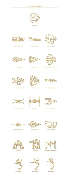 #STarwars Pictos I could totally draw that!!
