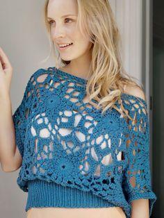 Titan Top.  Crochet top.  Convertible Crochet.  Doris Chan.  Kindle.  10 ply 187m/ 100g x 3.