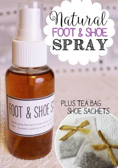 Cure smelly feet naturally using our powerful recipe for foot and shoe spray! Plus we show you how to make simple sachets using tea bags you can place in your shoes until you wear them again.