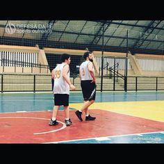 Me and my 14-year-old son @tassosorlandolycurgo playing for the same team: Defesa da Fé Sports Outreach.  defesadafe.org  #basketball #basquete #sports #esporte #defesadafe