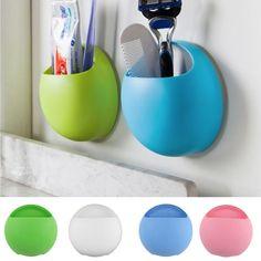 Cute Eggs Design Toothbrush Holder Suction Hooks Cups Organizer Bathroom Accessories