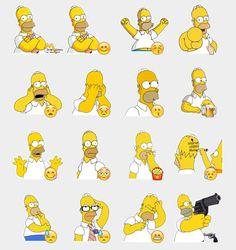 Homer Simpson Stickers Set | Telegram Stickers