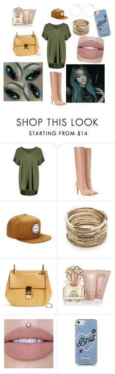 """Sassy/ Chill Day Out With Myah Alanna💕"" by tealbloodedballerina ❤ liked on Polyvore featuring Boohoo, Gianvito Rossi, Herschel Supply Co., Sole Society, Chloé, Vince Camuto and Skinnydip"