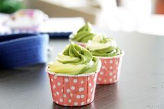 Healthier Matcha Cupcakes - Healthier matcha cupcakes made with applesauce instead of butter. They taste just as good!
