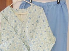 Snowy Day Handmade Flannel Pajama / Lounge by PizzelwaddelsApparel, $45.00