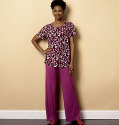 Cozy loungewear sewing pattern from Butterick comes in misses and plus sizes. B6262.