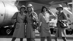 Airlines have a long tradition of tapping high-end designers to craft their uniforms. British fashion icon Mary Quant teamed with Court Line Aviation in 1973 to give their brand a trendy, mod identity.