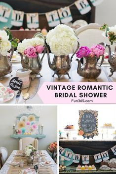See how Christie from Ritzy Parties created this ultra feminine vintage bridal shower! We can't get enough of this tea party inspired shower.