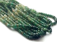 Emerald Beads Green Emerald Shaded Beads Emerald by gemsforjewels