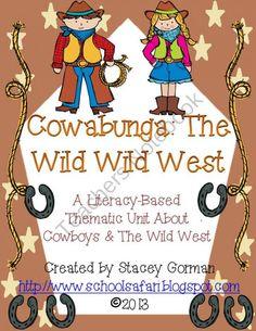 Cowabunga The Wild Wild West product from School-Safari on TeachersNotebook.com