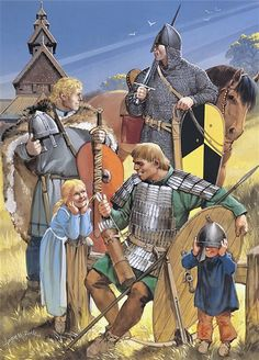 Medieval Scandinavian Armies - Sweden and Norway, Century. Medieval World, Medieval Knight, Medieval Armor, Medieval Fantasy, Viking Warrior, Viking Age, High Middle Ages, Armadura Medieval, European History