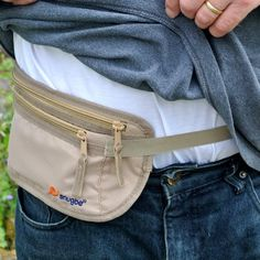 Travel Money Belt Light Slim Snug Waist Pouch Bag Hides Cards Cash Docs iPhone; Khaki: Amazon.co.uk: Luggage