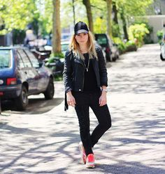 Your Outfit Today » Casual with leather jacket and Nike sneakers, June 16 2013