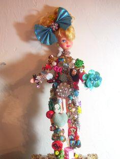 Altered Art  Barbie Doll by funkyluke on Etsy, $50.00
