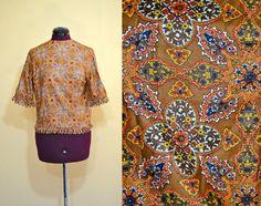 1960s Vintage Orange Boho Fringe Top size M L by TabbysVintageShop, $22.00