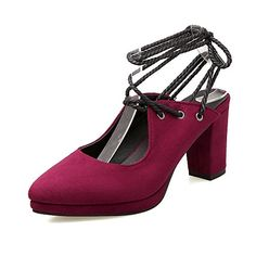 1c336c87581b AIWEIYi Ladies Platform Pump Shoes Round toe Slingbacks Lace up High Heeled  Sandals -- Be sure to check out this awesome product.