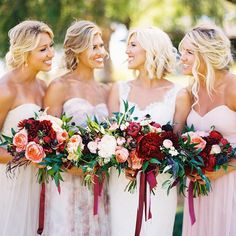 Tag your gals if you think these incredibly elegant harvest hues are a must-have! #regram #bridesmaids {Photo: @jen_rodriguez}