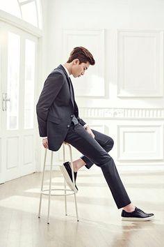 BASSO Homme 2016 S/S collection - March 2016 (cr. Basso Homme) Korean Star, Korean Men, Asian Men, Asian Actors, Korean Actors, Korean Dramas, K Park, Ahn Hyo Seop, Sung Joon