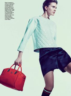 FAY for D Repubblica Italy - 2014. Women's Spring - Summer 2014 collection.