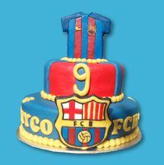 Barca cake Barcelona taart