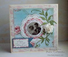 vintage wedding card by Mucia