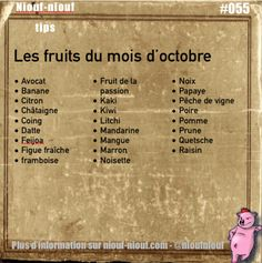 niouf-niouf:  Tip Niouf-niouf : les fruits de saison à consommer...