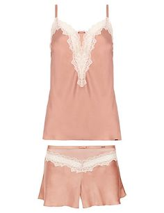 Silk Camisole Set with French Knickers | M&S