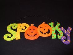 Wooden Halloween decorations I painted