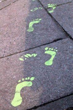 spooky footprints