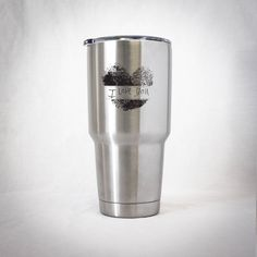 Excited to share the latest addition to our #etsy shop: Insulated Tumbler - Fingerprint Heart with Handwritten Message http://etsy.me/2nbnnbs