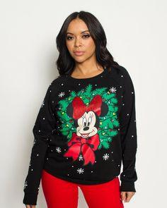 e17d59663c02d4 Minnie Mouse Light Up Christmas Sweater