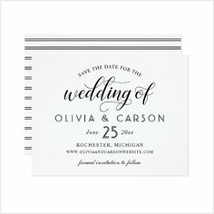 Chic Stripes Wedding Collection | Black and White