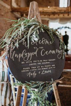 Unplugged Wedding Sign, Wedding Ceremony Signs, Wedding Signage, Wedding Reception Decorations, Rustic Wedding, Our Wedding, Wedding Stuff, Wedding Flowers, Dream Wedding