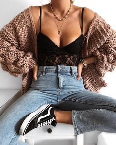 Autumn stylization with a linen top - Frauen Outfit Ideen - Summer Dress Outfits Mode Outfits, Trendy Outfits, Fall Outfits, Fashion Outfits, Womens Fashion, Fashion Trends, Style Fashion, Girl Fashion, Tumblr Outfits