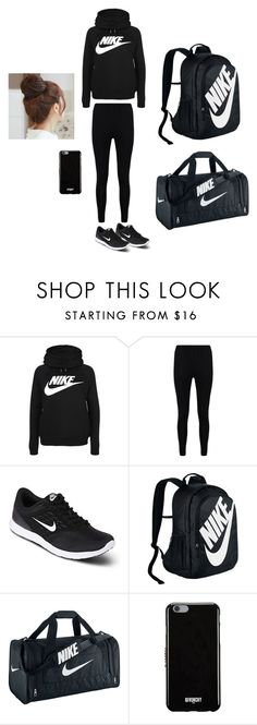 """exersice"" by maliyah-wbms on Polyvore featuring NIKE, Boohoo, Givenchy and Pin Show"