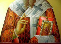 . Byzantine Art, Byzantine Icons, Religious Icons, Religious Art, Icon Clothing, Religious Paintings, Painted Clothes, Holy Family, Orthodox Icons