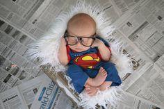 Superman newborn by Kelly Mullins Photography