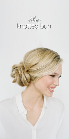The Knotted Bun via Once Wed - this might be a great style to play with adding bulk to a bun or using extensions