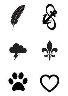 Mini Black Temporary Tattoos Group 1