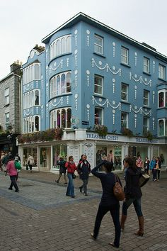Galway (Ireland)-a charming college city with lots of shops and many pubs.
