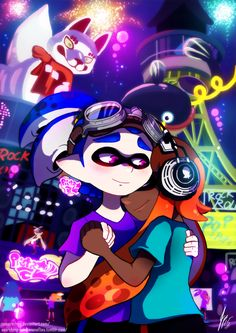 And so, July's Splatfest has came to an end. Last fireworks are shot. Music quiets down as Callie and Marie can finally stop their singing and take a well deserved rest. Most inklings head towards their homes as they are also tired from all the partying. But some squid kids ignore the sleepiness and continue dancing.