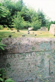 Tombstone of Reverend John Crandall